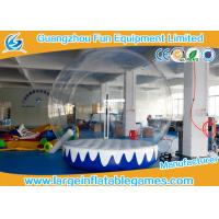 Quality 3M 4M Dia Inflatable Advertising Products Inflatable Snow Globe Customized Backdrop Cartoon Background for sale