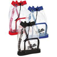 Quality Small Clear Plastic Drawstring Backpack , Printed Drawstring Bags For Promotional Gifts for sale