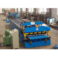 Quality Metal Roof Roll Forming Machine , Color Steel Corrugated Roofing Sheet Making Machine for sale