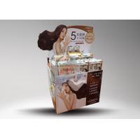 Buy Corrugated cardboard pallet display with spokesman for hair shampoo at wholesale prices