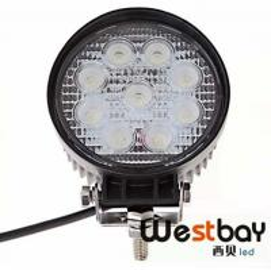 Quality 27w Led Work SPOT ROUND Light Off road 12v/24v Truck 4x4 Boat SUV lamp4pcs x 27w Led Work for sale