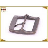 Buy Plain Design Brass Plated Metal Belt Buckle , Central Bar Buckle with Pin at wholesale prices