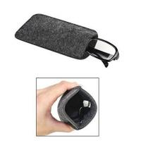 Quality Dark Grey Ladies Soft Sunglass Case With A Plush Styrene Interior for sale
