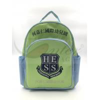 Quality Light Green 420D Polyester Kids School Backpacks For Traveling / Outdoor for sale