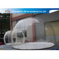 0.7mm Transparent Pvc Inflatable Camping Bubble Tent With Floor CE UL EN14960 for sale