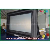 Quality PVC Custom White / Black Inflatable Projection Screen WIth Frame SGS Approval for sale