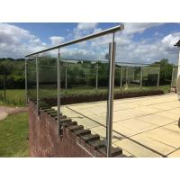 Quality Stainless Steel Post for Glass Railing/ Glass Balustrade for Exterior Using for sale