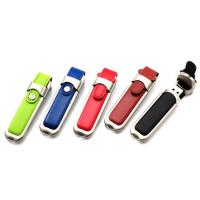 China Buckle Leather Custom USB Memory Stick / Promotional USB Thumb Drives on sale