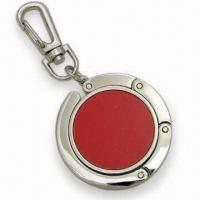 Quality Contractible Handbag Hanger with Embedded Magnet and Keychain for sale