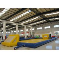 Quality Amusment Park Inflatable Soccer Playground bright colour giant Inflatable Football Pitch for adult for sale