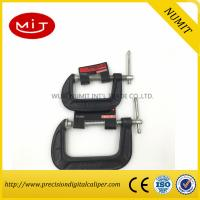 Quality Red / Black  G Clamp for Heavy Duty Wood Working with  45 carbon steel,Machinist measuring tool for sale