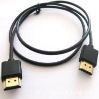 High Speed HDMI Cable Assembly , 1 Meter Length Black Round Male To Male Audio Cable for sale
