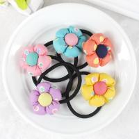 Buy Baby accessories children Girls jewelry Rabbit pumpkin flower baby headwear hair ring hair rope elastic hair band at wholesale prices