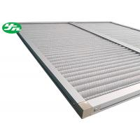 China Aluminum Wire Mesh Industrial Air Filters , Dust Panel Pleated Media Filter HVAC on sale