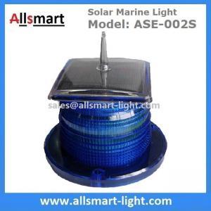 Quality 2-3NM 15LED Flash Solar Marine Aquaculture Lights With Spike Drive Bird Needle Sea Signal Solar Buoy Security Lamp for sale