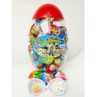Quality Toy Egg Candy Happy Egg Multi Fruit Flavor Candy Jelly bean With Lovely Mini Spinner Toy candy for sale