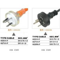 Australia Standards SAA Approval Power cords for sale