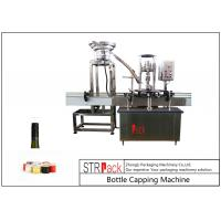 China One Heads Bottle Capping Machine / ROPP Aluminum Screw Cap Crimping Machine on sale