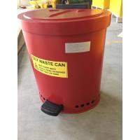 Quality Laboratories Oily waste can, Industrial Fireproof Metal Waste Bin for sale