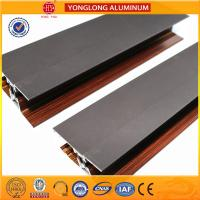 Quality Wooden Finish Aluminum Extrusion Profiles For Sliding Window for sale