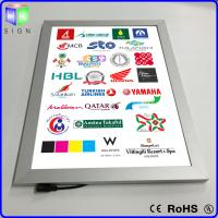 China Advertisement LED Poster Frame Light Box Wall Mounted 3D Laser Engraving on sale