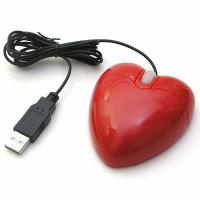 New fashion design red heart basic optical mouse CE & ROHS certificates for sale