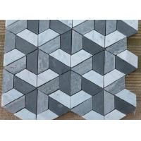 Silver Grey Irregular Marble Mosaic Wall Tile , Mosaic Shower Tile For Bathroom for sale