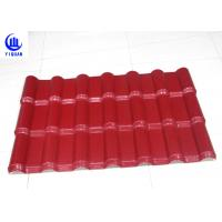 Quality Embossed Surface Red Synthetic Resin Roof Tile 219 mm Pitch Size for sale