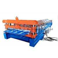 Quality Trapezoid Roofing Sheet Roll Forming Making Machine For Building Material for sale