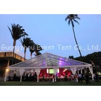 Clear Span Marquee With Glass Fire Door , Steel Clear Span Buildings Windproof White