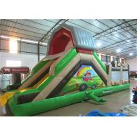 Quality Hot sale inflatable farm themed amusement park with standard slide on one side inflatable multiplay  fun city for sale