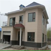 Quality Prefabricated Steel Frame House Villa with Nature Stone Painting Steel Pipe Truss house for sale