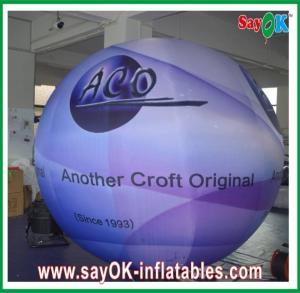 China Digital Printing Inflatable Lighting Ground Ball Diameter 2.5m For Festival on sale