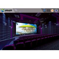 Quality Flat / Arc Screen Movie Theater Seats Sound Vibration Cinema Theater With Special Effect for sale