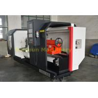 Quality Flat Bed CNC Turning Machine , High Stability Computer Controlled Lathe for sale