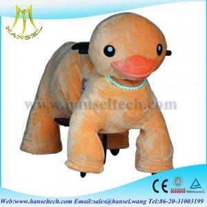 Quality Hansel happy rider toys on wheel battery animal ride plush motorized animals for sale