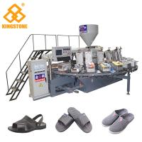 Quality Plastic Shoe Making Production Line , Rotary TPR PVC Shoe Sole slipper Making Machine  for sale