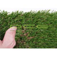 Quality Warranty 5 Years Outdoor Artificial Grass / Synthetic Grass Lawn Olive Shape 4 Colors for sale