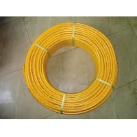 China overlapped PE AL PE gas pipe,yellow color,black color on sale
