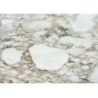 Italian Fish Belly Gold Calacatta Oro Marble Tiles For Luxury Interior Decoration for sale