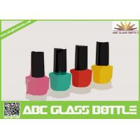 Quality hot design 8 ml square shaped pure glass nail enamel packing bottle for sale