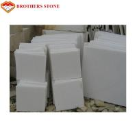 Free Sample Pure White Marble Slab Polished , Crystal White Marble Tiles for sale