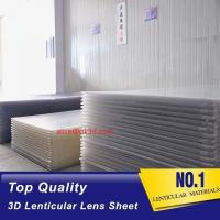 Quality 3D Lenticular Sheet materials 70LPI PET 0.9MM 60X80CM for 3d lenticular printing by injekt print and UV offset print for sale