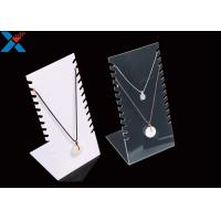 Quality Jewellery Store Acrylic Necklace Display Stands , Acrylic Necklace Holder Pendant Bracelet for sale