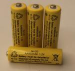 Quality 1.2V Cylindrical NICD Battery Packs AA900mAh UL CE for sale