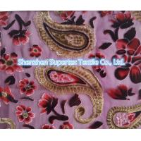 Quality Upper Market Polyester Velvet Stretch Silk Fabric Silk Burn Out Flowers Leopard for sale