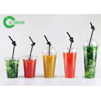 Quality Large Hard Disposable Plastic Cups With Lids Highly Transparent Custom Logo for sale