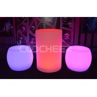 Quality Glowing cleanable lighted outdoor furniture with pe plastic material for sale
