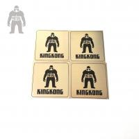 Quality Tinplate Custom Stainless Steel Coasters , Recycled  Round Promotional Drink Coasters for sale