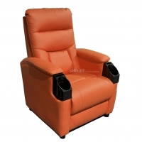 Buy cheap Leather Home Movie Theater Seats VIP Sofa With Tilting Cup Holder from wholesalers